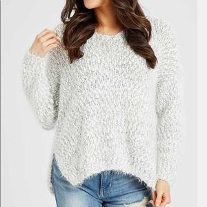 Altar'd State- Lovely Lash Sweater in Gray Marled